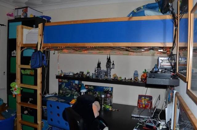 Nice Kura bed to loft bed hack