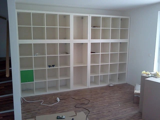 Wall fitted expedit book shelf