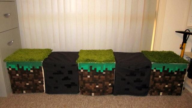 Minecraft Inspired Window Seat Stools Ikea Hackers