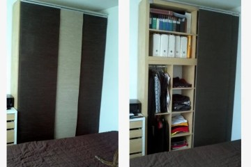 Full Height Wall To Wall Sliding Bypass Doors Using