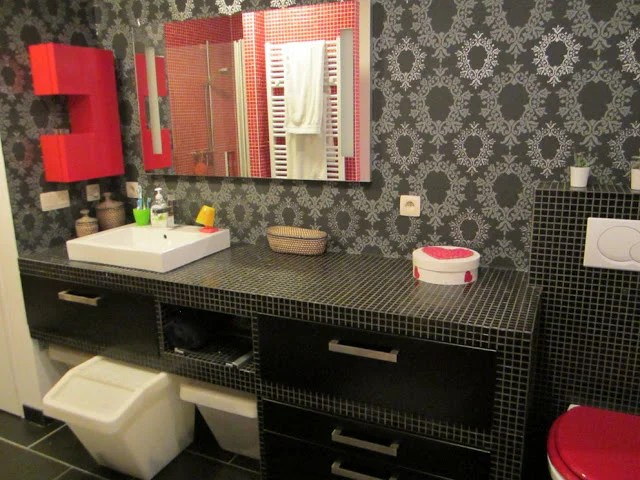 Popular Kitchen drawers reworked in to bathroom furniture