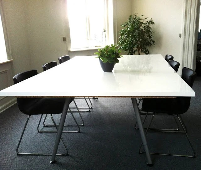 easy made conference table ikea hackers. Black Bedroom Furniture Sets. Home Design Ideas