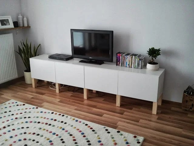 Besta Tv Storage Combination Legs Ikea Hackers