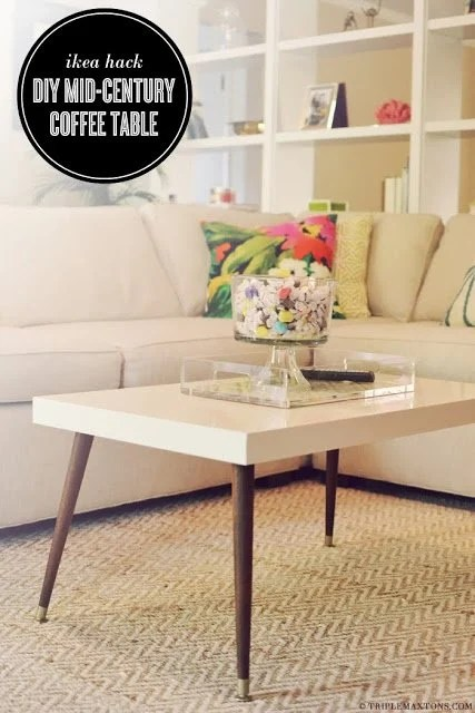 Lack Turned Mid Century Modern Coffee Table Ikea Hackers