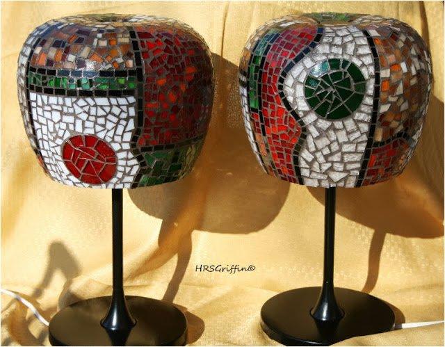 Ikea Lamps Into Art: Mosaic Lamps