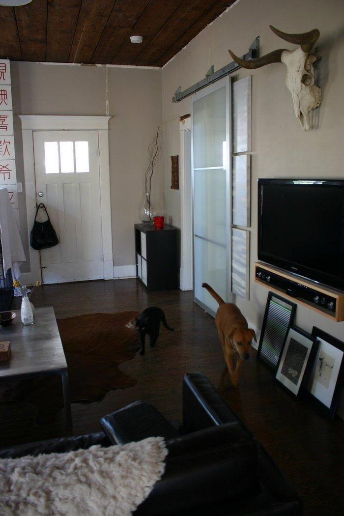 Pax Armoire Doors Get New Life As Barn Doors Ikea Hackers
