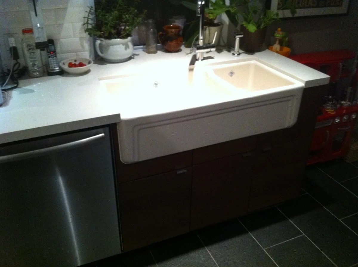 farmhouse sink  ikea kitchen cupboards ikea hackers