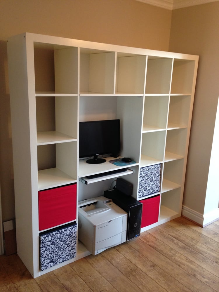 Expedit Shelving Amp Computer Desk Hack Ikea Hackers