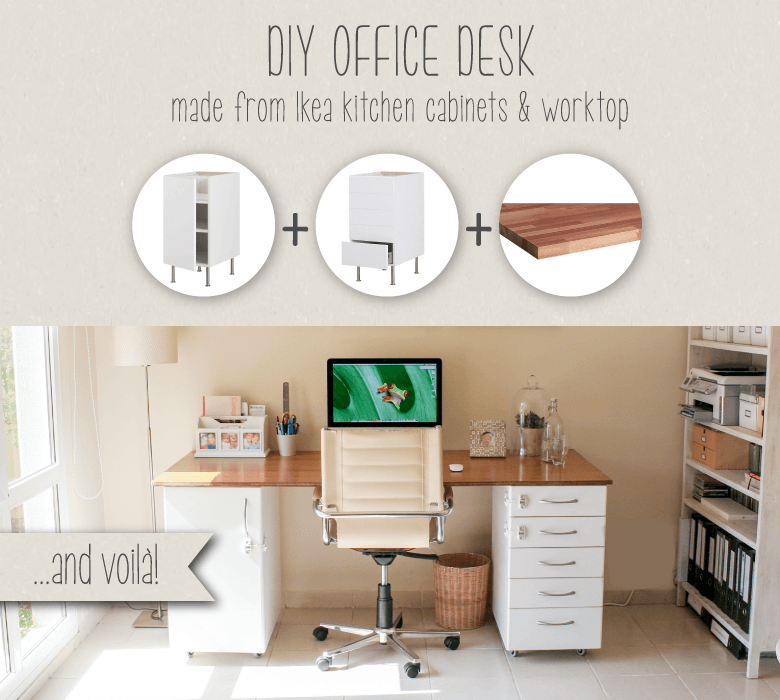 DIY office desk made from IKEA kitchen components - IKEA ...