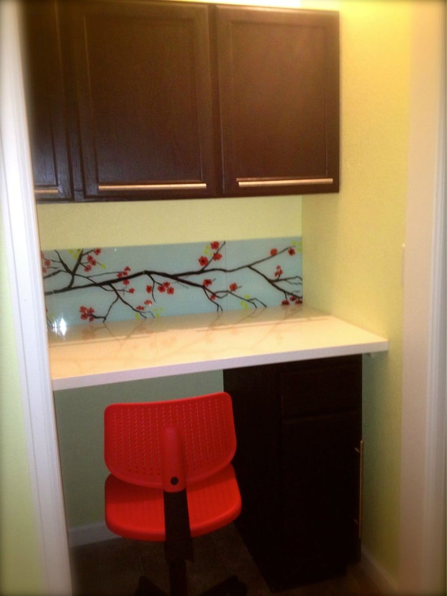 Bad Closet Turns To Good Craft Space In Laundry Room