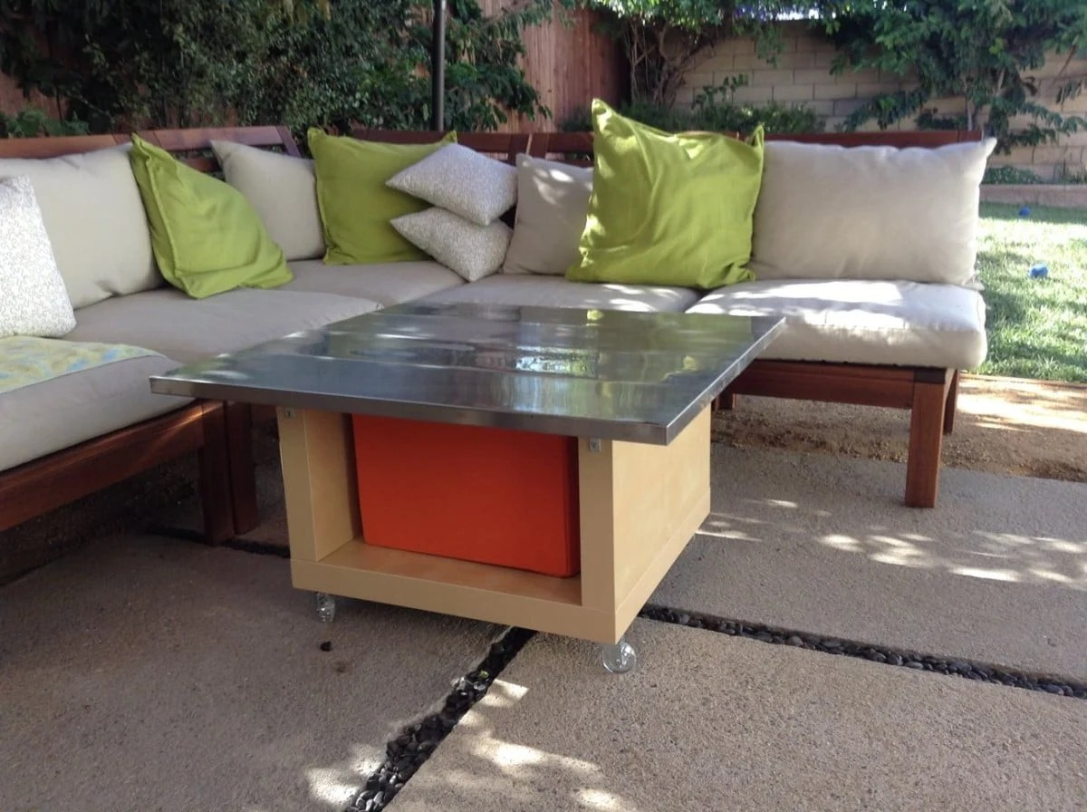 Lack Hack Stainless Steel Outdoor Table Ikea Hackers