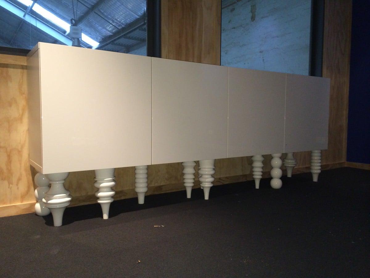 Besta Wall Cabinets Mod To Sideboard Ikea Hackers