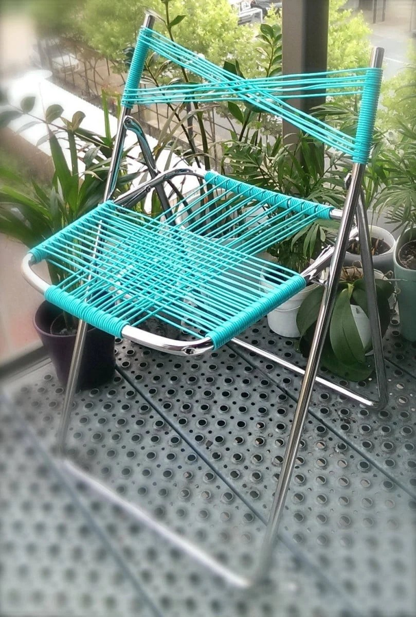 Nisse Folding Chair Turned To Cord Chair Ikea Hackers