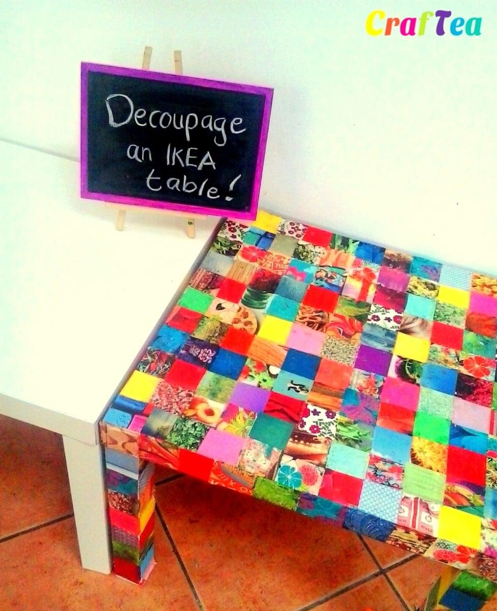 Diy Decoupage On Ikea Lack Table Ikea Hackers