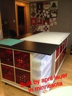 Quilting Cutting Table Island On Wheels Ikea Hackers