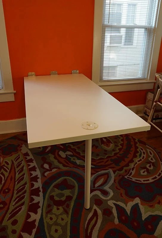 Folding Whiteboard Work Table Ikea Hackers