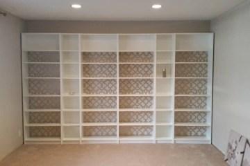 ikea built in bookcase wall billy effektiv lack ikea hackers. Black Bedroom Furniture Sets. Home Design Ideas