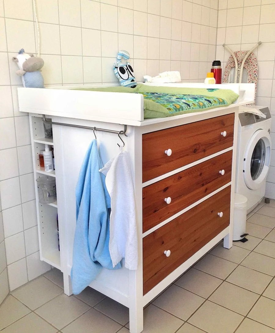 Wickeltisch Hemnes Diaper Changing Table Ikea Hackers