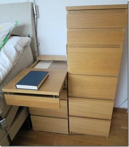 MALM Extendable Bedside Table IKEA Hackers
