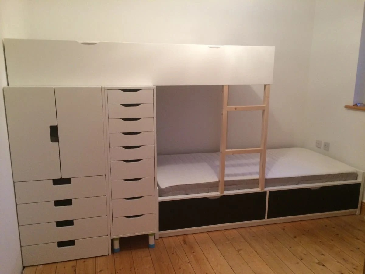 Flaxa Bunk Bed With Lots Of Storage Ikea Hackers