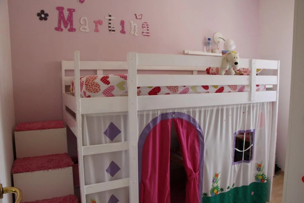 Mydal Loftbed With Play Area For Girl S Room Ikea