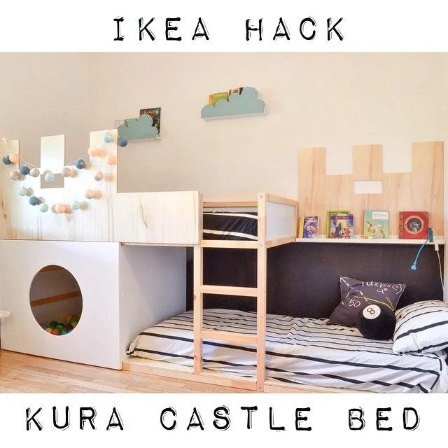 Fabulous KURA castle bunk bed