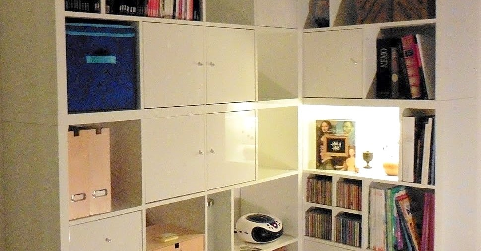 A Made To Measure Kallax Corner Bookcase Ikea Hackers