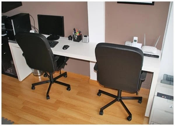 double workstation with malm and ribba ikea hackers. Black Bedroom Furniture Sets. Home Design Ideas