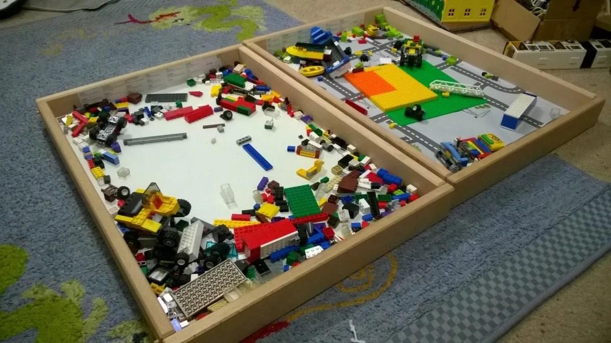 LEGO tray storage