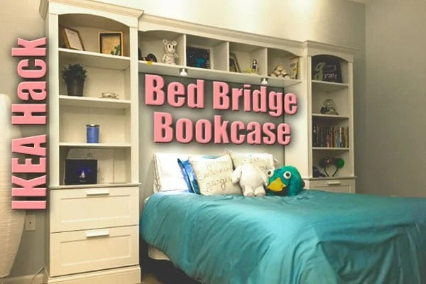 Bed Bridge Bookcase From Ikea Brimnes Billy Ikea Hackers