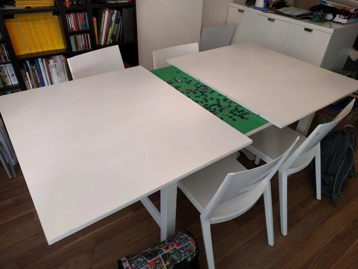 Norden Concealed Puzzle Table Ikea Hackers