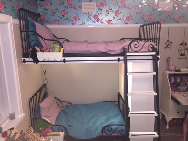Marvelous IKEA Minnen single beds into bunk beds with extras