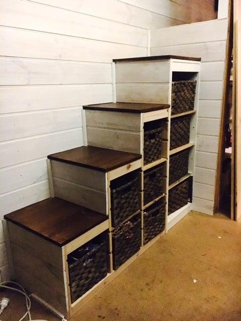 trofast storage to sturdy stair conversion