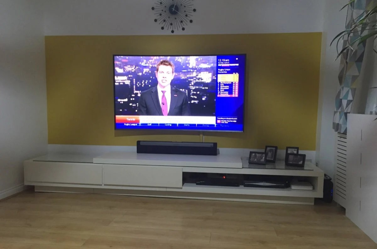 TV stand twice the length