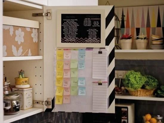 kitchen command centre - right door
