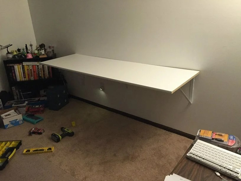 Floating Desk Ikea Hack