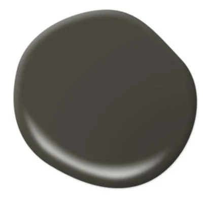 Behr's Black Mocha is a paint match with IKEA black-brown furniture