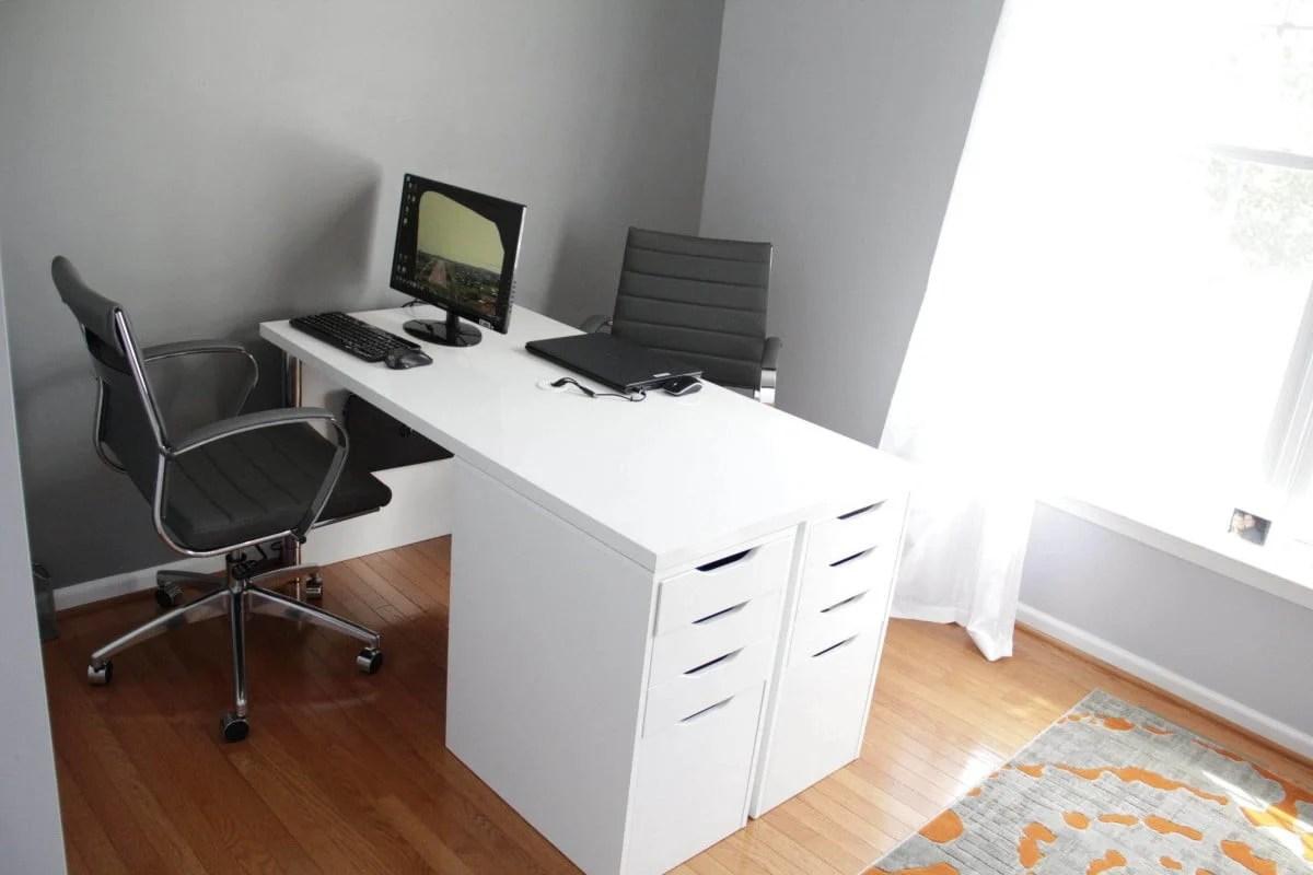 ikea minimalist two person desk ikea hackers. Black Bedroom Furniture Sets. Home Design Ideas
