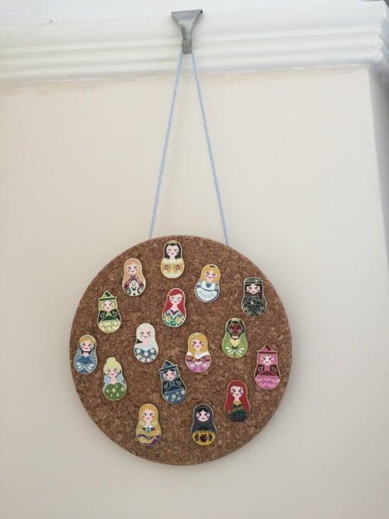 Disney pin cork board - front