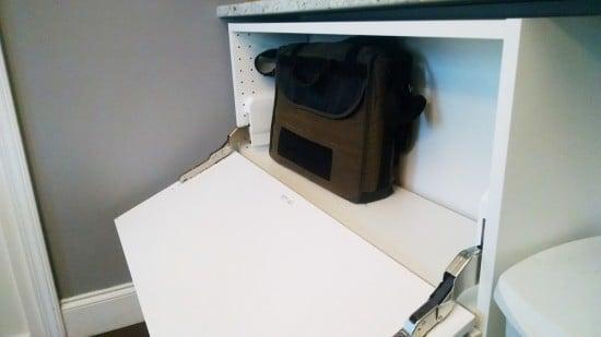Sektion storage console - inside