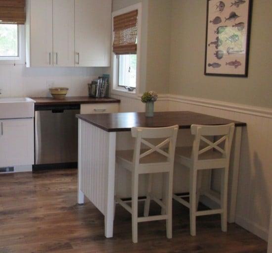 Coastal makeover for STENSTORP kitchen island-4