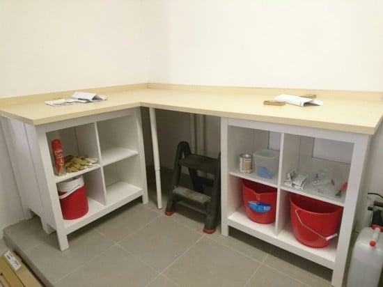 Garage workbench - corner