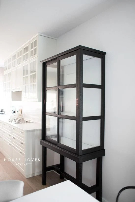 Upgrade IKEA MALSJO to elegant tall glass cabinet
