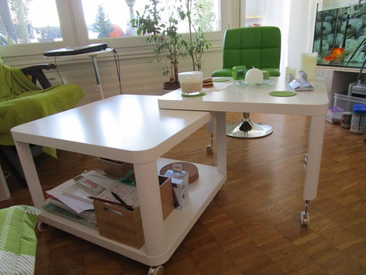 Double Multi Position Tingby Coffee Table Ikea Hackers