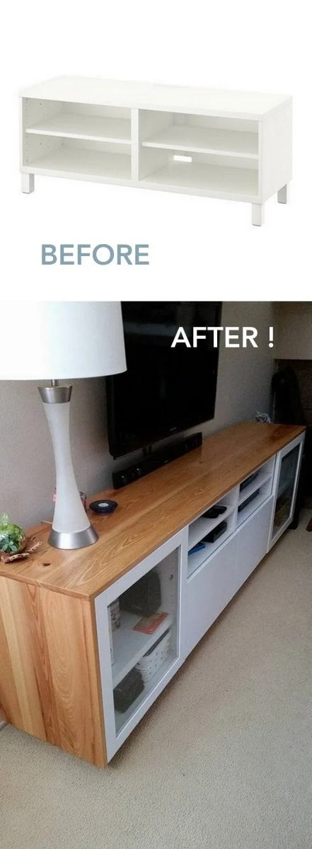 IKEA BESTA TV cabinet wrapped in cypress