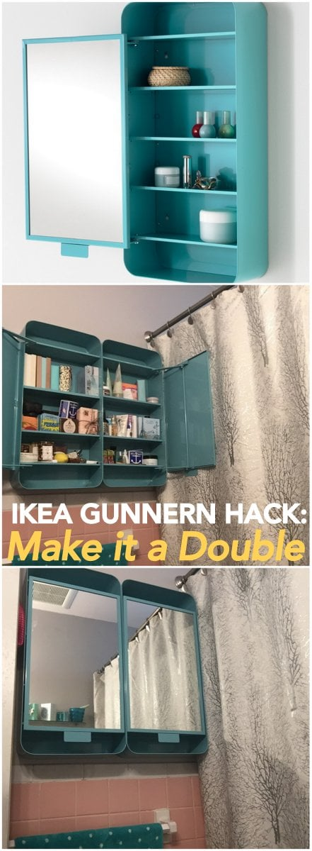 IKEA GUNNERN, from single to a double bathroom cabinet