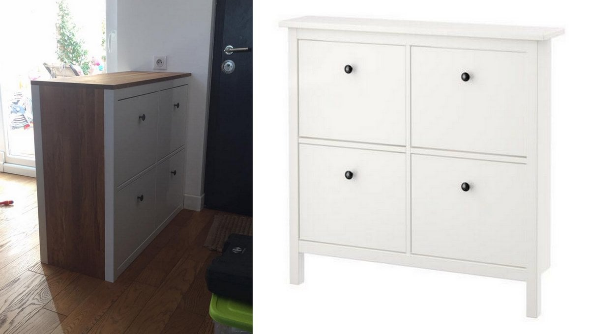 double sided hemnes shoe storage ikea hackers. Black Bedroom Furniture Sets. Home Design Ideas