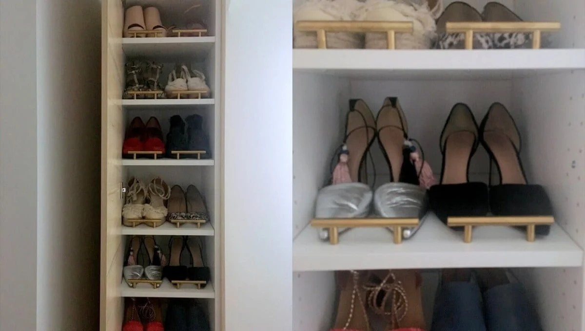 a classy tall shoe cabinet to fit small