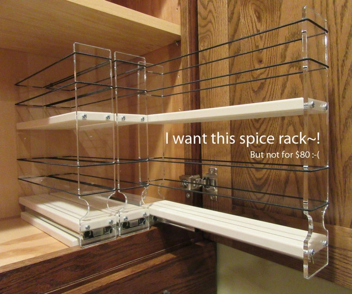 Slide Out Spice Racks For Kitchen Cabinets: Hackers Help: Suggestions For A Pull-Out Spice Rack