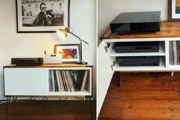 Record Player Stand From IKEA BEST And Pallet Wood IKEA